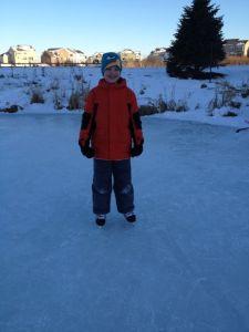 Sonen på isen sent en eftermiddag strax innan julen.
