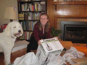 Vår hund Lilly ville också vara med på ett hörn.