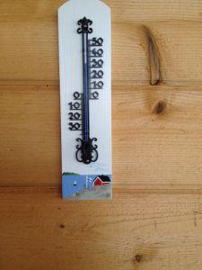 Min trotjänare i Celsius. Inköpt på gågatan i Jakobstad senaste sommar under Jakobs Dagar. Bidrar med lite hemlandstoner...