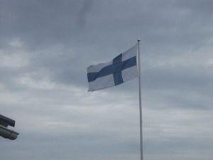 Flaggan i topp för födelsedagsbarnet!