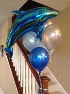 Ballongbuketten som prydde  trappan...
