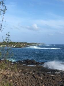 En del av den södra kusten på Kauai.